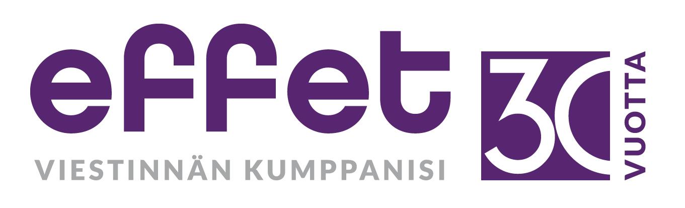 Effetin juhlavuoden logo